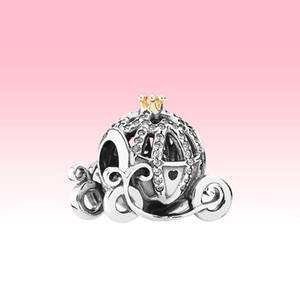 Auténtica plata de ley 925 Coche de la calabaza pulsera del encanto DIY Accesorios para joyería que hace granos de Pandora encantos con la caja original