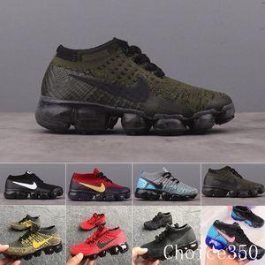 Nike Vapormax flyknit air max  kids Presto air flari Running Shoes Children Athletic Shoes Boys Girls Kids cushion Training Black orange purple Sports Sneaker shoes RTK62