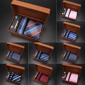 Manu alta gama de negocios regalo Manu cuadro de lazo de 6 piezas grupo determinado de hombres lazo de los hombres casuales
