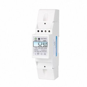 Residencial 2 fios Monofásico Din Rail Medidor de Energia Elétrica Medidor KWH com Backlight AC 230V 5-80A para economia de energia Energia h2FA #