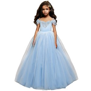 Pretty Dresses with Sleeveless Girls for Wedding Collection of 2019 Lace Ball Dress with a Sheer Neckline for Little Girls Luxurious Dresses