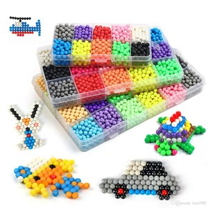 New 1000PCS 10 Color Boys Magical Water Mist Magic Beads Craft for Animal Molds DIY Hand Making Puzzles Toys Christmas Gifts