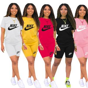 Plus-Größe 2XL Sommerfrauen Marke Jogger Anzug Designer schwarz zweiteiliger Satz kurze T-Shirt Shorts Outfits legere weiße Sportkleidung 3504