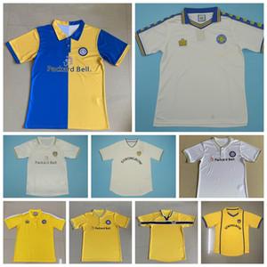 1976 1977 1998 2001 Retro Leeds United Vintage SMITH Jersey di calcio BOWYER Alioski KEANE Kewell Dacourt Roofe KEITH Football Shirt Kit