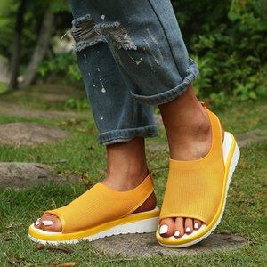 WENYUJH Kadınlar Sandalet beden kadınlar için 2020 Flip Flop Yüksek Topuklar Sandalet Yaz Ayakkabı Platformu Ayakkabı takozlarla