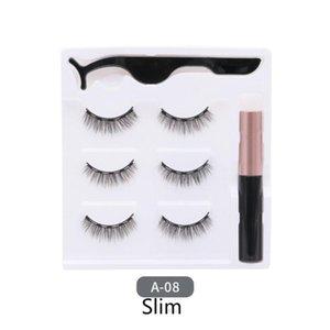 Magnetic Eyeliner Liquid & Magnetic False Eyelashes & Tweezer Set Eye Lashes Women Long Lasting Makeup