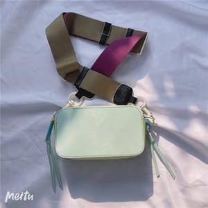 Kadın çantası yeni fermuar kamera çantası, kadınların geniş omuz kemeri küçük kare bir çanta çapraz kapanış