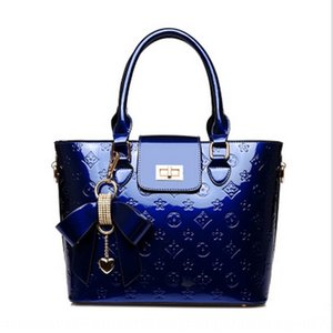New Pendant case and suitcases shoes patent leather embossing high-grade pendant women bags liang pi bags shoes