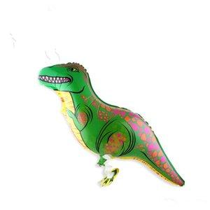 New Creative Green Walking Pet Dinosaur Ballons en feuille d'aluminium pour enfants Boule Cadeaux de fête d'anniversaire Ballon Adornment