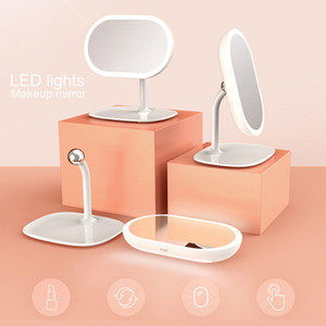 led makeup mirror lights rechargeable detachable portable brightness adjustable daylight table makeup mirror make-up