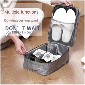 KbJ6S Korean multi-functional proof bag Box Water shoes water shoes Travel large capacity portable storage shoe box foldable arrangement sto