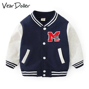 Roupa de uniforme de beisebol Primavera Outono Crianças VearDoller Boy Casual crianças à prova de vento Sportswear Meninas Meninos Jacket Coats CX200727