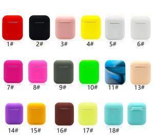 Auricular para Apple Airpods silicona caso TPU delgada cubierta del protector de la manga de la bolsa de aire Ultra Vainas auricular Caso