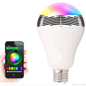Bluetooth LED Smart Bulb musique audio Haut-parleur 6W Blanc rgb lampe d'éclairage E27 commande sans fil Fonctionne avec Téléphone