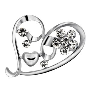 Heart Brooch for Women's Accessories Brooches for Women Jewelry Luxury Brooch Pins Vintage Brooches Large Badge Metal Halloween