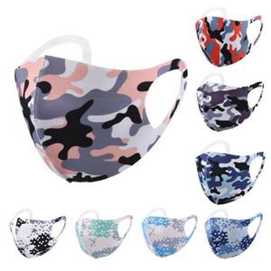 adult face mask reusable washable cartoon camouflage masks ice silk sunscreen dustproof breathable Designer Masks