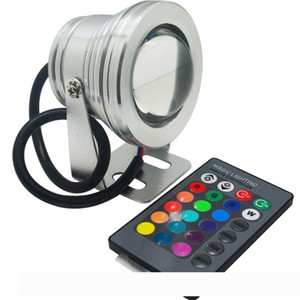 IP67 wasserdichte LED Unterwasserlicht 10W RGB-Lampe DC 12V Aquarium Pool Spotlight Aluminium Auto-Beleuchtung Fish Tank Fern