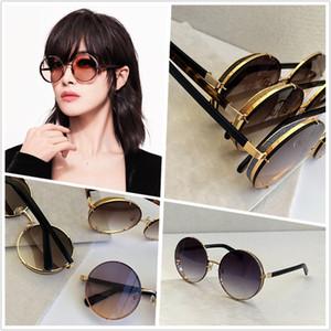 النساء فاخر مصمم أزياء النظارات الشمسية النظارات الشمسية المستديرة إطار لون عدسة شعبية أسلوب الصيف الساخن بيع LILOS حماية UV400 النظارات
