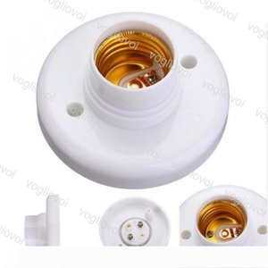 Lamp Holder E27 Round Lamp Bulb Socket Bases White lamp Holder Flame Retardant PBT Adapter Converter DHL