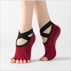 Yoga socks Non-slip Sport socks women yoga 2020 New pilates Ballet Dance sock sneakers Breathable cotton youth