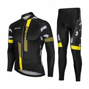 Manches longues Maillot cyclisme Set montagne de cyclisme sur route Costume Outdoor Racing Bike Sweat Pantalon de sport Maillot Ropa JnpH #
