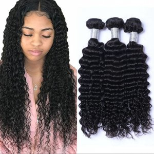 Mongolian Deep Wave Weave Human Hair Bundles 3 Bundles Curly Hair Extensions 100g pc Unprocessed Virgin Hair Weft