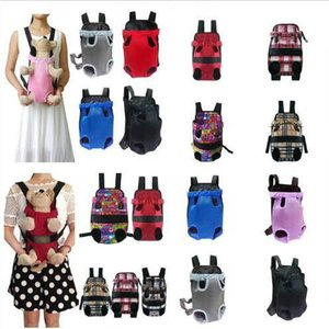 Pet bag Dog Backpack Front Chest portable Cloth Backpack Carriers with Buttons Outdoor Travel Durable Shoulder Bag For Dogs Cats CFYZ131