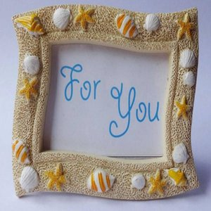 Wholesale Beach Theme Lovely Sea Shell Starfish Resin Photo Frame Wedding Favors Gifts for Guest