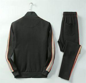 France brand Designer Men's Tracksuits Medusa Running Tracksuit Autumn winter casual men sportswear Zipper Brand Jacket Pants Suits