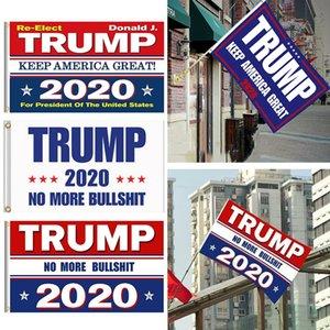 Donald Trump 2020 Flag 90 * 150cm Keep America Große Banner President USA Digital Print Slogan Flagge Sea Shipping DDA203