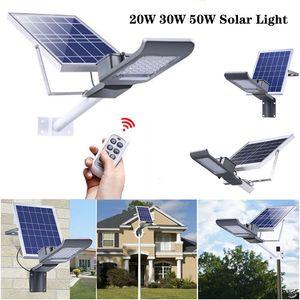 Calle 20W 30W LED de luz solar al aire libre solar de control IP65 a prueba de agua de luz LED luces de la yarda del jardín Lámpara de calle con Smart Control Remoto