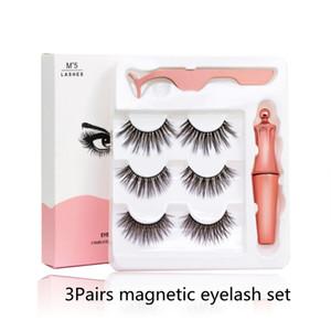 EPACK Cils magnétiques avec l'eyeliner et brucelles 3 paires 5 magnétique Faux Cils Traceur liquide de maquillage de expédition Goutte réutilisable
