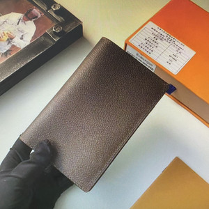 M64502 M64501 Hommes Passeport Couverture Voyage Femmes Passeport Protection Case Pochette Porte-cartes Porte-cartes Portefeuille Organisateur Carteira Masculina