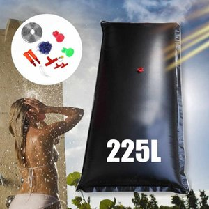 225L Outdoor Camping Shower Water Bag Camping Mountaineering Solar Shower Bag Portable Outdoor Bath Water Storage Non-Toxic