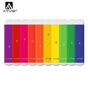 ATVS dispositivo desechable de Pod Kit 350mAh Grado A 1,8 ml de células precargada cartuchos 500 Puffs Vape Vacío Pen