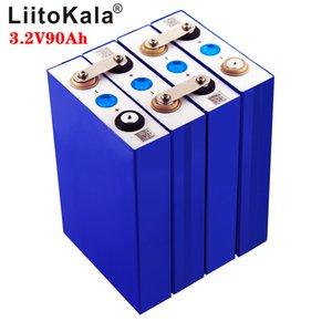LiitoKala 3.2v 90Ah LifePo4 battery lithium 270A 3C high drain for diy 12V 24V solar Inverter electric vehicle coach golf cart