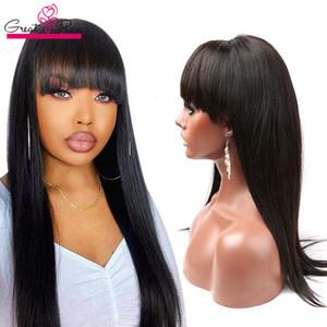 Lace Front Perücken Drown Hairline Raw Virgin-peruanisches Haar Glueless volle Spitze-Perücken Menschenhaar-Perücke mit Baby-Haare Greatremy