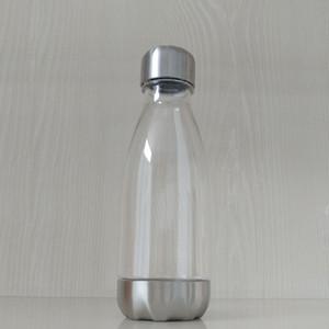 12 oz Narrow Neck Bouteille d'eau en plastique bon marché 17 onces antifuite Sports nautiques Flask boissons Portable Bouteille avec couvercle en acier inoxydable Fond A09