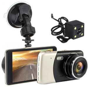 full HD 1080P Car DVR Cameras 2 Lens 4.0 Inch Wide Angle Dash Camera Dual With Rearview Cam Auto Registrator