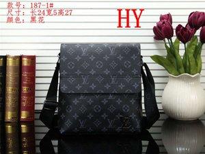 Classic fashion Men leather shoulder bag mens designer backpack student school bookbags Vintage print Travel bag