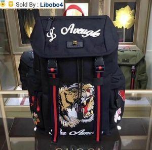 libobo4 2019 429037 Top NYLON LEATHER BLACK WOMAN BAG BACKPACK Backpacks Luggage Shoulder Bags HANDBAGS Belt Bag