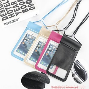 New PU leather high-end wire-drawing mobile phone waterproof bag pattern mobile phone waterproof bag