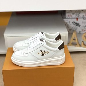 2020n customized version of luxury design printed high-quality leather sneakers wild mens casual shoes mens banquet shoes Size: 38-45