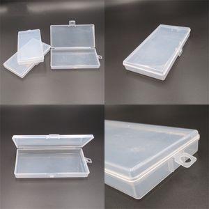 2 centímetros Máscara Caixa de armazenamento de plástico transparente Pp Esvaziar Bloqueio Caso Oblong forma de retângulo simples Organizer Hot Sale 0 B2 5NP