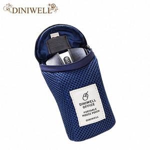 Gros-DINIWELL sac de rangement manches Pochette pour ordinateur portable Macbook Adapter Mouse Case Voyage Câble chargeur Sac Power Pack # de