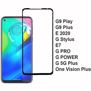Para Motorola MOTO G9 Além disso Jogar G Stylus G8 Power Lite E7 G pro g POWER G-5G Plus One Vision Plus E 2020 completa cobertura completa GlueTempered Vidro