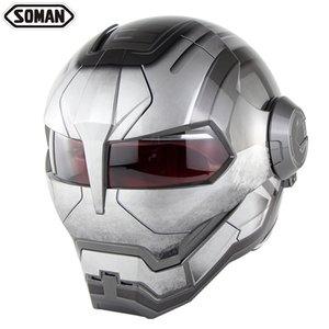 Super personalidade capacete da motocicleta capacete integral retro transformador capacete aberto protetora, Unisex / masculino e feminino