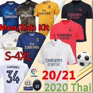 20 21 Real Madrid fútbol Jersey PELIGRO DE BALE Campeones # 34 camisa casera del fútbol awayadult ASENSIO de ISCO MARCELO Madrid 19 20 uniformes de fútbol