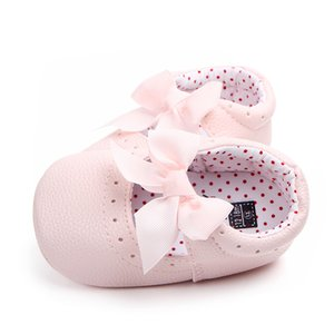 Baby Moccasins Shoes Newborn Baby Girl Shoes Bowknot Soft Bottom Sneakers First Walkers Spring Princess Shoes