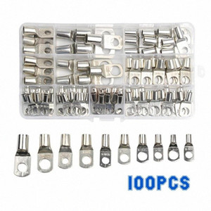 100PCS SC Tinned Copper Lug Ring Wire Connectors for Battery Bare Cable Electric Wire Connector Crimp Terminal Set Kzrm#
